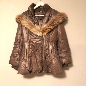 Mackage peaches bell sleeves parka brown jacket
